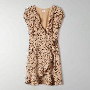 Aritzia Sunday Best Savoy Leopard-Print Wrap Dress